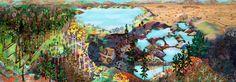 Sophia Heymans artwork. Large scale lively landscape paintings. Twelve Month Series. Recent Work. Past Work.