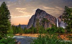 Scarica sfondi Montagne di Santa Cruz, Montagna, fiume, tramonto, montagne, California, USA