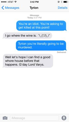 """14 Texts From """"Game Of Thrones"""" Characters"""
