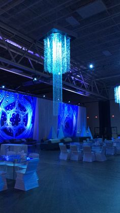 Gorgeous Chandelier set up for Essentia Health event in DECC's Pioneer Hall.  Duluth, MN.
