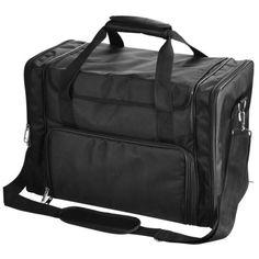 1200D Pro Black Soft Makeup Train Bag Case Pockets Artist Cosmetic Organizer Box