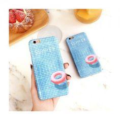 Sommer typisch Blauschwimmteich mit treibendem Schwimmreifen Mattglasbirne Telephone case für Iphone6/6s/6plus