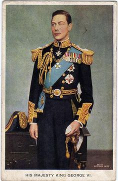 Vintage postcard of King George VI. Very nice picture. Queen Mother, Queen Mary, Queen Elizabeth Ii, King Queen, Duchess Of York, Duke And Duchess, Windsor, Adele, Prince Phillip