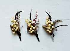 """Personalized boutonnieres from Etsy seller """"Just Ann's"""" - With Love From Me to You 