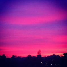 «Encore un ciel de feu ce soir à #Limoges»