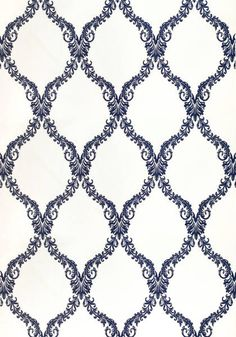Olbia Embroidery #woven #fabric in #navy from the Anna French Symphony collection. #Thibaut #AnnaFrench