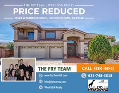 """PRICE REDUCED! """"Large Landscaped Lot Home In The Prestigious Gated Community Veranda Of Litchfield Park""""   Experience this amazing 3D Virtual Tour, https://my.matterport.com/show/?m=v3EERuw3cpp   Reach out and find out how this could be your home today. CALL 623-748-3818 or visit us at www.FryTeamAZ.com"""