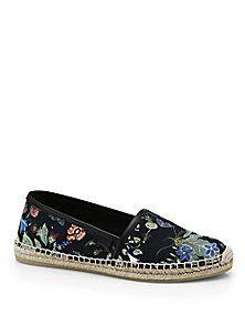 Gucci - Pilar Floral-Print Espadrille Flats