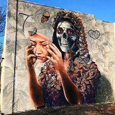 Funktionieren von GAMMA in Denver GAMMA Denver graffiti streetart 3d Street Art, Murals Street Art, Urban Street Art, Amazing Street Art, Art Mural, Street Art Graffiti, Street Artists, Amazing Art, Graffiti Face