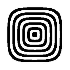 Rotating Square Illusion - In the illusion illustrated above, when the concentric square borders with rounded edges are rotated slowly, the entire pattern appears to pulsate radially.