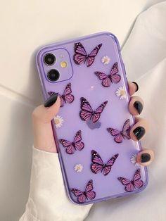 Butterfly Clear iPhone Case | ROMWE USA Kawaii Phone Case, Girly Phone Cases, Pretty Iphone Cases, Iphone Phone Cases, Iphone Case Covers, Cases For Phones, Clear Phone Cases, Unique Iphone Cases, Diy Coque