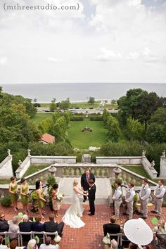 Your Wedding Will Have One of the Best Views In Milwaukee at Villa Terrace. Photo by m three studio