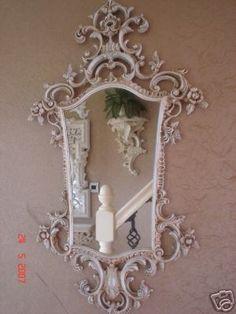 Shabby chic mirror so beautiful