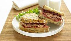 Tuna, Prosciutto and Provolone Panini  Tuna Deli-type Sandwich.  Bring the deli home with you with this easy-to-make, Italian-inspired sandwich packed with flavour.