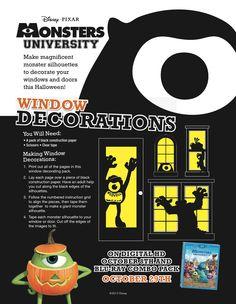#MonstersUniversity Halloween Window Decorations