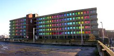 "Patrick Murphy ""I wanted to transform a building that had a bureaucratic history having been Barnsley Councils headquarters for the past 40 years, and through colour void it's previous function"". Patrick Murphy, Barnsley, Limited Edition Prints, 40 Years, The Past, Colour, History, Studio, Architecture"