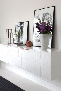 Beyond the IKEA Hack. Innovative companies create something new using IKEA furniture. Learn some of the ways they're taking IKEA furniture to the next level. Floating Cabinets, Ikea Cabinets, Ikea Furniture, Furniture Design, Furniture Handles, Custom Furniture, Painted Furniture, Room Inspiration, Interior Inspiration