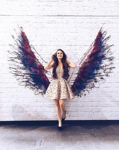 Wing Wall, Angel Wings Wall, Dresses, Fashion, Vestidos, Moda, La Mode, Fasion, Dress