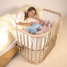 Babybay Maxi Bedside Cot is the perfect side sleeping solution for twins, larger babies and little ones who just need more sleeping space. Co Sleeping Cot, Bedside Cot, Latest Bed, Co Sleeper, Baby Equipment, Second Baby, Baby Cribs, Baby Bassinet, Baby Bedding