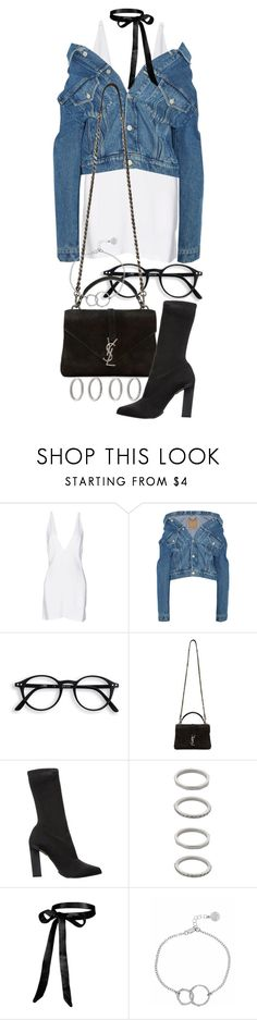 """""""Untitled #21153"""" by florencia95 ❤ liked on Polyvore featuring Christopher Kane, Balenciaga, Yves Saint Laurent, Calvin Klein Collection, Forever 21 and Chupi"""