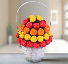 Colorful roses is tasty baked flower  www.Frutiko.cz/barevne-ruze