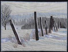 "Fences by Pamela Druhen Fiber - Pieced ~ 23"" x 30"""