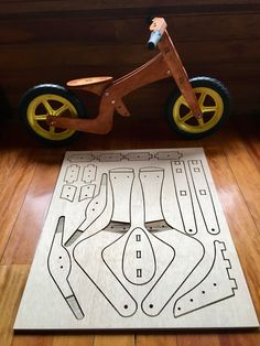 Diy Wooden Projects, Wooden Crafts, Wooden Diy, 3d Puzzel, Wood Bike, Making Wooden Toys, Kids Wood, Wood Toys, Diy Toys