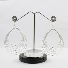 BEAUTIFUL DESIGN 925 HANDMADE STERLING SILVER EARRINGS WHOLESALER #SilvexImagesIndiaPvtLtd #DropDangle