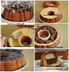 İçi dolgu çikolatalı kek nasıl yapılır?