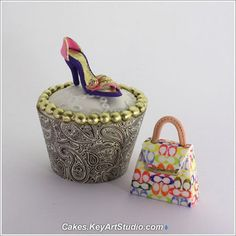 Coach Purses & Shoe Cupcake Toppers