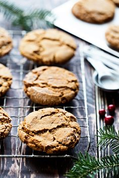 Soft and chewy molasses cookies that are perfect for the holiday season.