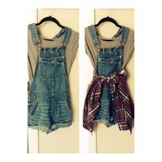 Overalls and flannels  In LOVE with this look