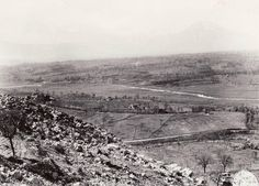 From Monte Trocchio, the view north across the Rapido River to Sant' Angelo and the Liri Valley beyond, January 1944....
