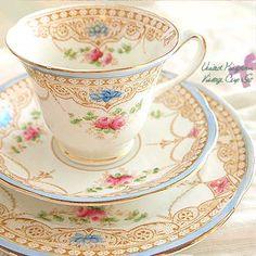 Vintage fine china and tea sets. Oh how I love beautiful tea sets :)