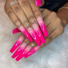 What manicure for what kind of nails? - My Nails Acrylic Nail Shapes, Bling Acrylic Nails, Aycrlic Nails, Best Acrylic Nails, Bling Nails, Swag Nails, Hot Nails, Colorful Nail, Funky Nail Designs