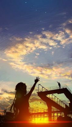 Say hey to the sky and goodbye for the sun and hello to the monsters Stock Design, Bts Art, Fan Art Anime, Illustration, Anime Scenery, Anime Style, Manga Art, Webtoon, Amazing Art