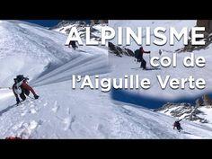 Col de l'Aiguille Verte alpinisme ski de randonnée pente raide Chamonix Mont Blanc - 6772 - YouTube