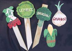 My Homemade Garden markers for vegetable garden!  $6 each or 5 for $25. See http://www.etsy.com/listing/79203578/made-to-order-handpainted-reusable?ref=sc_1 for details!