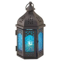 Found it at Wayfair - Exotic Blue Lantern in Gray ....super love and $13.99 each