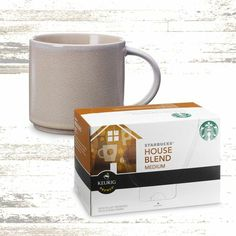 The Director. Give Dad the gift of one delicious cup of House Blend coffee at a time with the touch of a button—enjoyed in a ceramic stacking mug. $25.00 at StarbucksStore.com