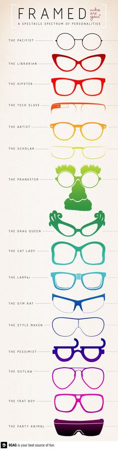 A spectacle spectrum of personalities. www.focalglasses.com Best Vision in The World!