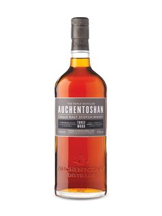 Auchentoshan Three Wood Lowland Single Malt whiskey (sweet and smooth. Good scotch for people who don't like the bolder flavour of scotch)