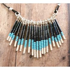 Beaded fringe necklace from www.wildbynaturedesigns.com