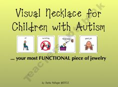 Visual Necklace for Children with Autism product from The-Autism-Helper on TeachersNotebook.com