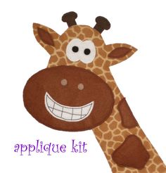 DIY Giraffe applique kit for tshirt bag pillow more by nycostumes, $6.50