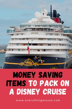 Disney Cruise, Disneyland and Disney World Tips by EverythingMouse - Disney Cruise TIps. Essential items to pack on a Disney Cruise to save money. Lots of great Disney - Packing List For Cruise, Cruise Europe, Cruise Tips, Cruise Travel, Cruise Vacation, Cruise Mexico, Italy Vacation, Disney Wonder Cruise, Disney Fantasy Cruise