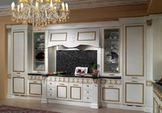 Italian Style Kitchen Cabinets for Modern Kitchen Look : White And Gold Kitchen Cabinets Italian Style Kitchen Cabinets Design