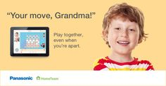Chat and play games with your grandchildren -- just like you do in person -- with Panasonic's HomeTeam! Click to learn more.