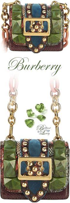 Brilliant Luxury by Emmy DE ♦ Burberry Bridle Baby Ruffled Snakeskin Shoulder Bag