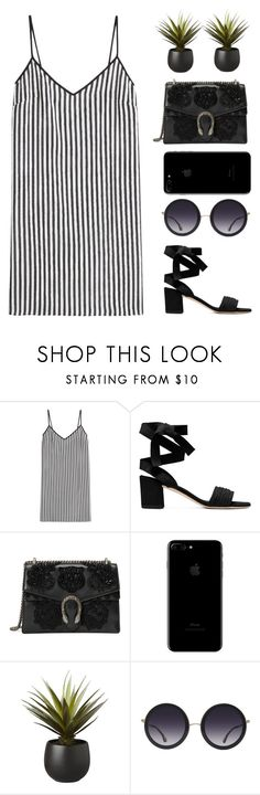 """""""Untitled #378"""" by totalfashiongirl ❤ liked on Polyvore featuring Marco de Vincenzo, Gucci, CB2 and Alice + Olivia"""